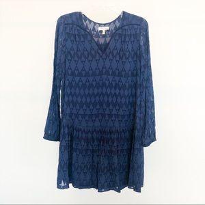 Rebecca Taylor Navy Blue Dress Size 6